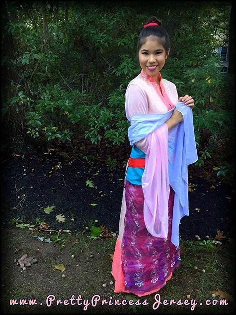 Mulan, Princess Party, Princes Performer, Singing Princess, Princes for Hire, Character Impersonator