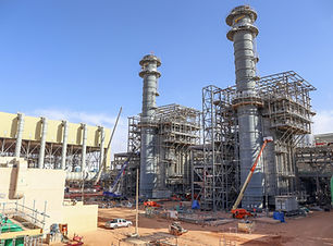 power plant under construction