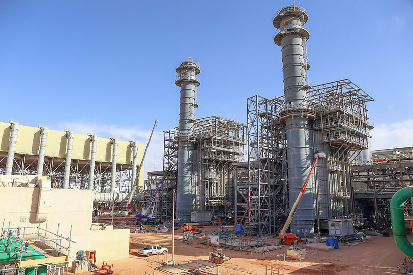 Construction of a 2x1 Combined Cycle Gas Plant with Air Cooled Condenser.