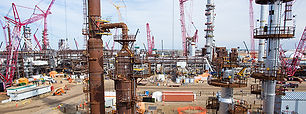 petrochemical plant constuction site