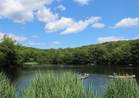 Canoe on Hemlock Lake