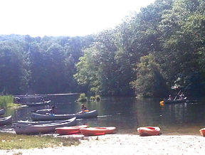 Boats on Hemlock Lake