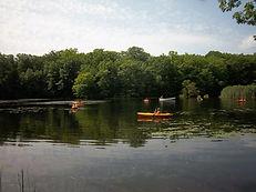 Kayaks on Hemlock Lake