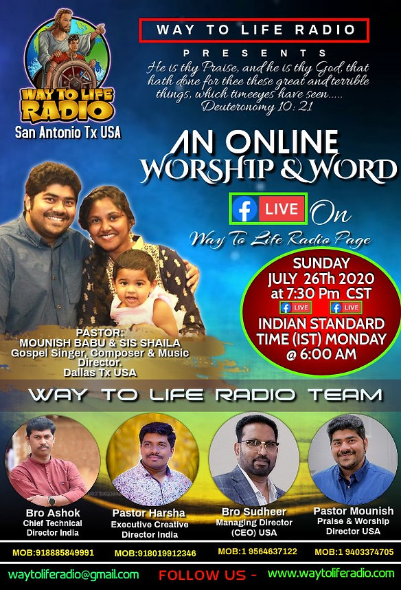 Way to Life Radio Live Worship and Word