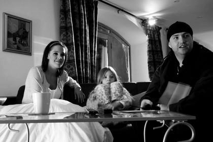 Actors Danielle Lloyd and Eden Watson, with Director Dominic Burns. CUT 2009