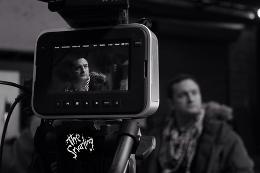 Joel Beckett on set. The Snarling, 2015