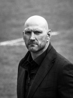 Portrait of England rugby union legend, Lawrence Dallaglio