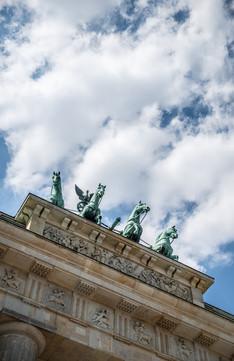 Quadriga on top of Brandenburg Gate