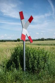 railway sign in Lübars