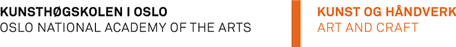 Art and Craft - Oslo National Academy of the Arts logo