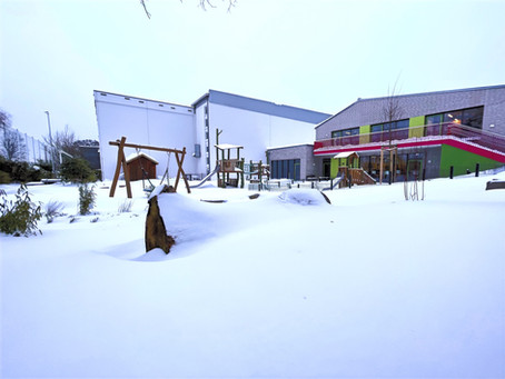 Schneelandschaft - Kindergarten