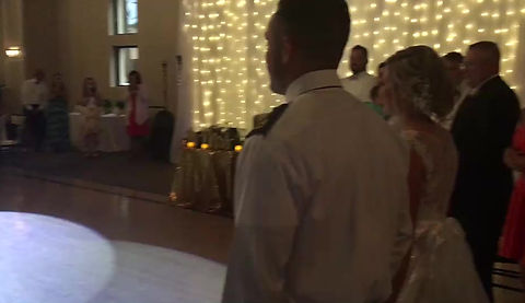 One of our wedding couples who took 22 private lessons total. The amazing thing was the groom was deployed and was able to learn the choreography just a couple weeks before their big day! Sufficed to say, he was a quick learner. Their song was a Viennese Waltz  named You Make It Easy by Jason Aldeen.