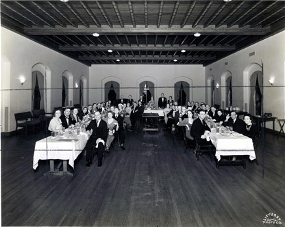 c. 1938 Houston Alumni Chapter members attending a dinner at the River Oaks Country Club, April 6, 1938