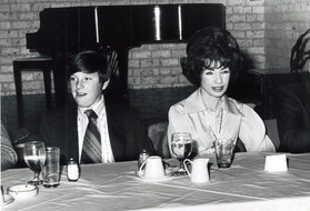 c. 1973: Houston Alumni Chapter, Wild Game Dinner, January 31, 1973. Photograph of Joanne Jackson, and son, Brian of Brother Milton Jackson who entered Chapter Eternal in 1972 and had served the Houston Alumni Chapter for a long time.