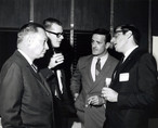 c. 1960's: Houston Alumni Chapter, Wild Game Dinner, Sagewood Country Club, Houston, late 1960s.( L to R): 44th Grand Consul Floyd Baker, unidentified, unidentified, Richard O'Brien??