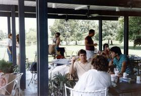 c. 1985: Houston Alumni Chapter Alumni Picnic, Bud Adams Ranch, Waller, Texas, July 27, 1985. Picnic Pavillion.