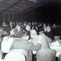 c. 1963: Houston Alumni Chapter Wild Game Dinner, Fall 1963. Image of the attendees, no identification.
