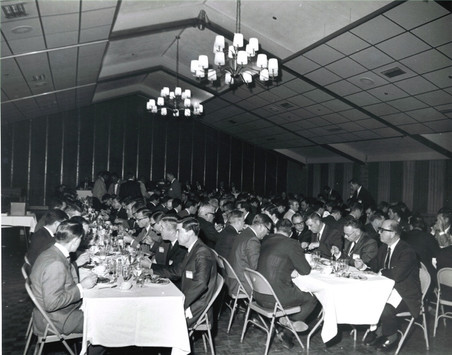 c. 1960's: Houston Alumni Chapter, Wild Game Dinner, Sagewood Country Club, Houston, late 1960s. Banquet scene. Two hundred Sigs at Sagewood Country Club, Houston.