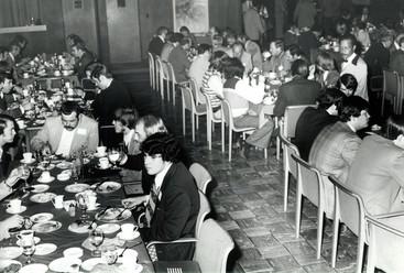 c. 1973: Houston Alumni Chapter, Wild Game Dinner, January 31, 1973. The attendees enjoy the dinner.