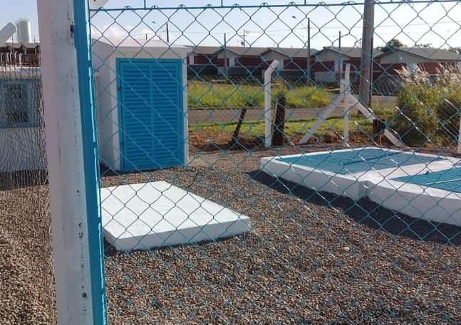 Estação de tratamento de águas em Andradina-SP.