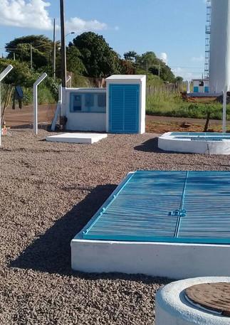Estação de tratamento de águas em Andradina.