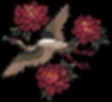 수 놓은 새와 꽃