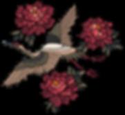 Oiseaux et fleurs brodées
