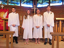 Last year's confirmands.  For years we h