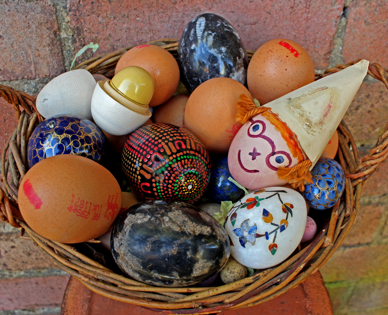 EGGS ALL IN ONE BASKET by Sue Avey