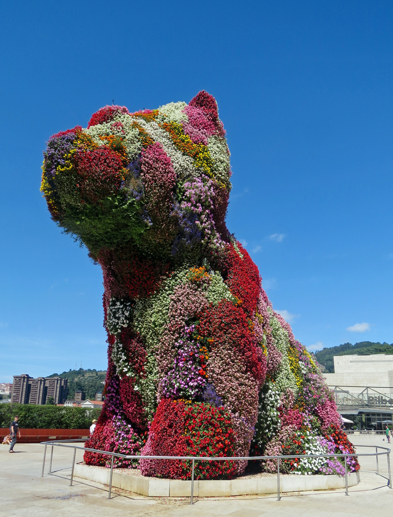 FLORAL DOG by Sally Botwright