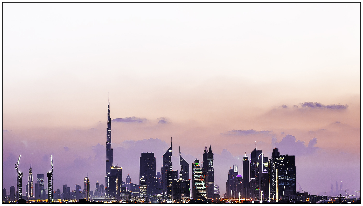 DUBAI AT DUSK by Andy Smith