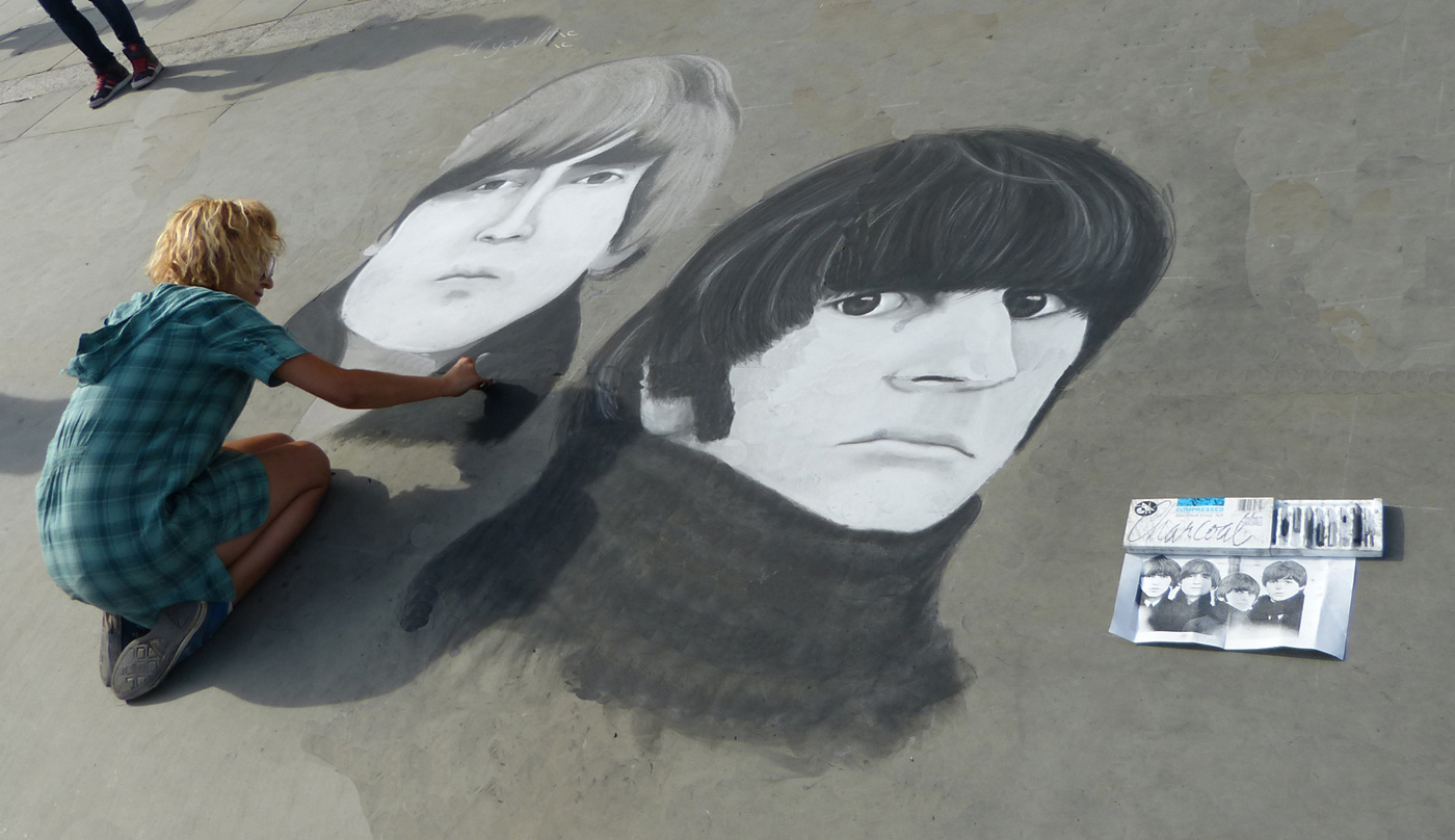 CHARCOAL HAND DRAWN BEATLES by John Cano-Lopez.jpg
