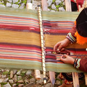 INCA AT THE LOOM by Judy Giles