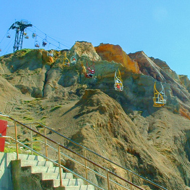 ALUM BAY CHAIRLIFT AND STAIRS by Keith W