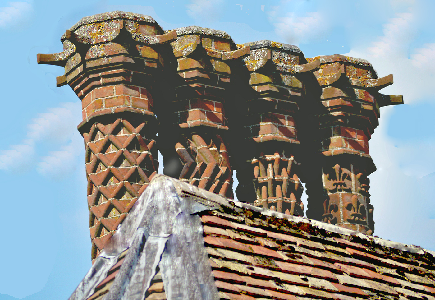 AGED CHIMNEY POTS by Dave Taylor.jpg