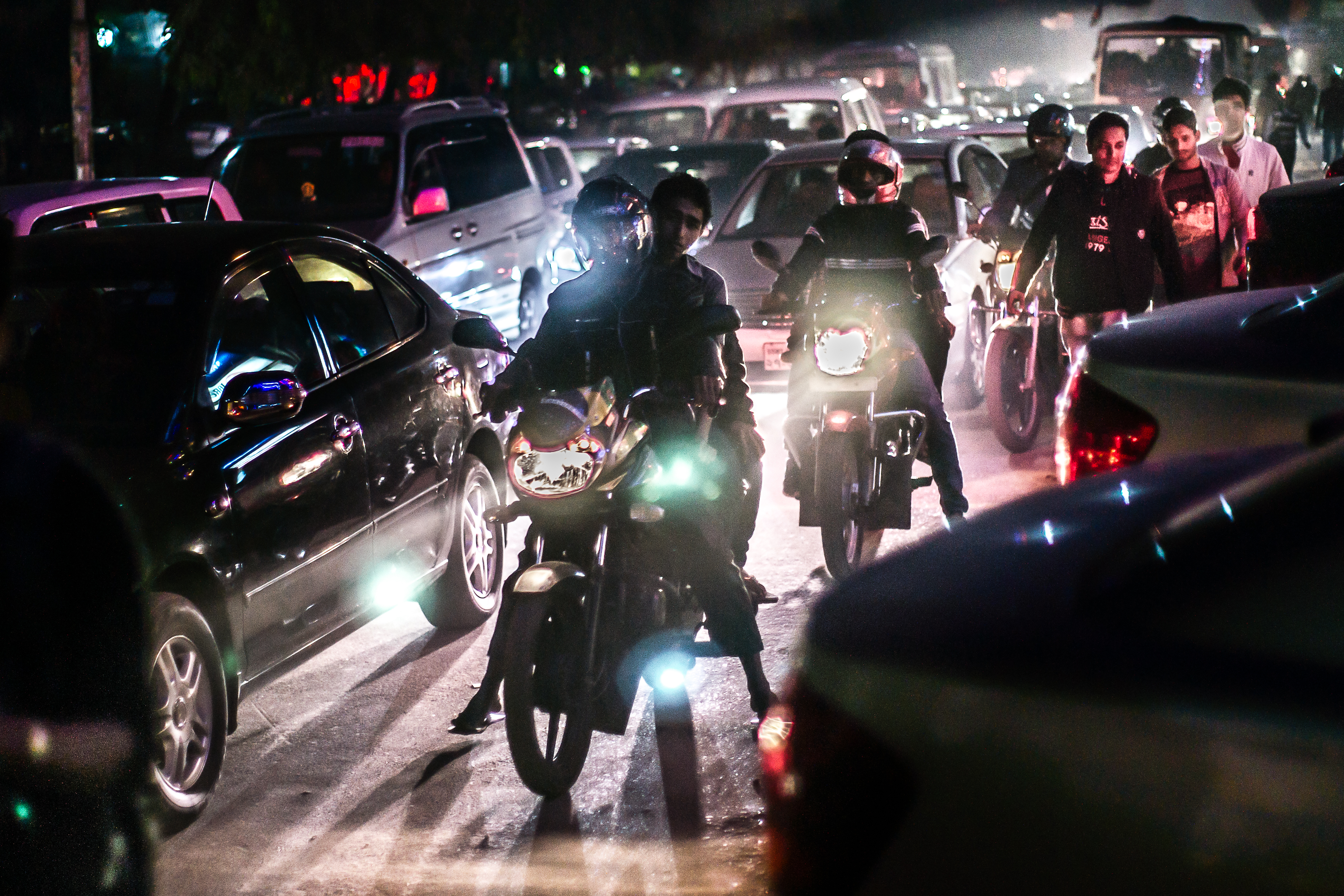CARS MOTORBIKES AND PEDESTRIANS by Andy Smith.jpg