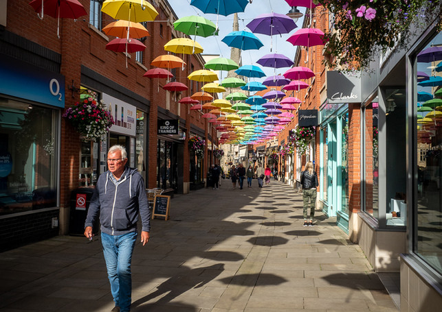 BROLLIES IN THE SUN by Mark Collins
