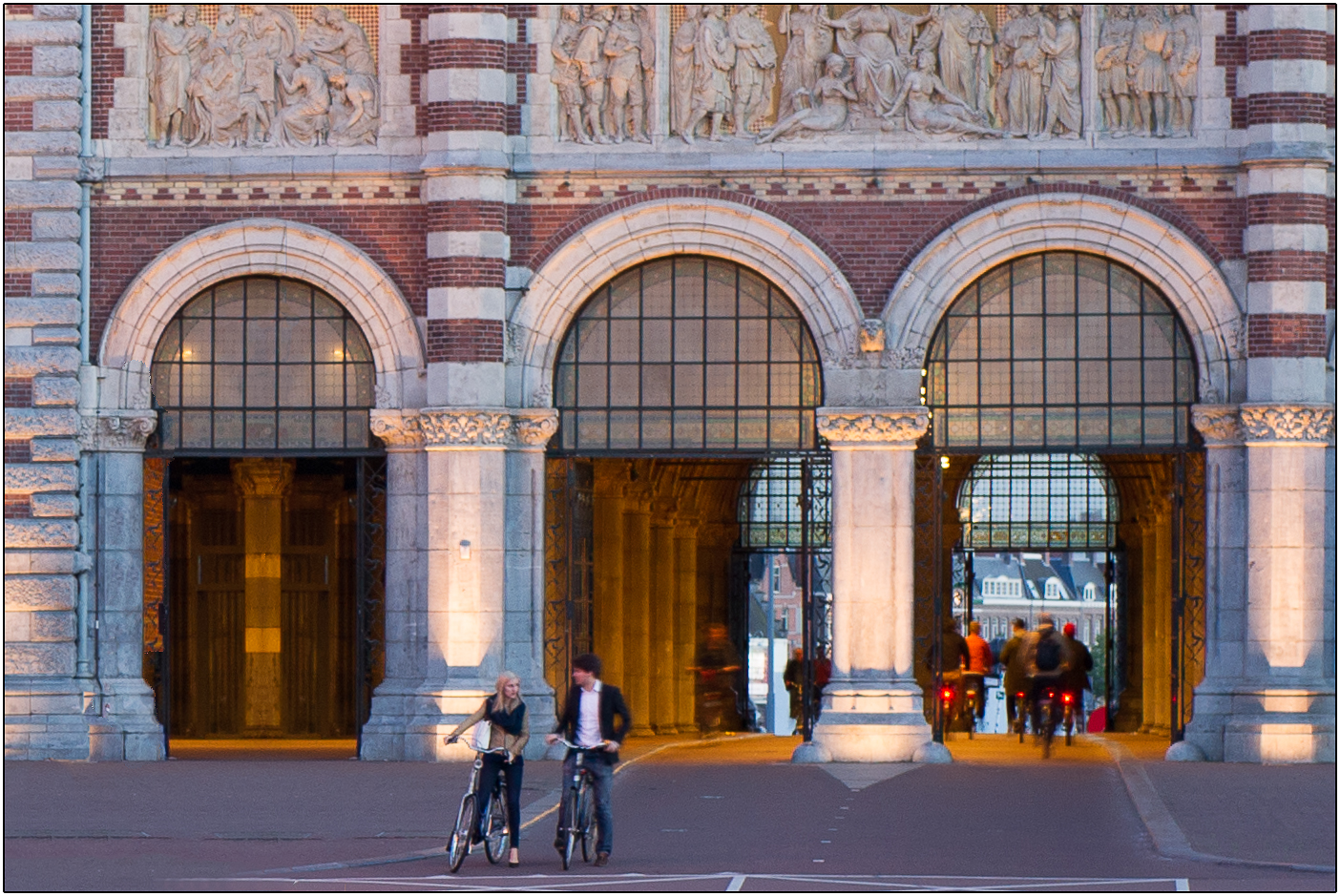 GATES TO THE RIJKSMUSEUM by Andy Smith