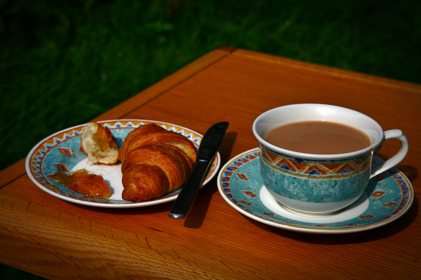CROISSANT AND A CUPPA by Rojer Weightman.JPG
