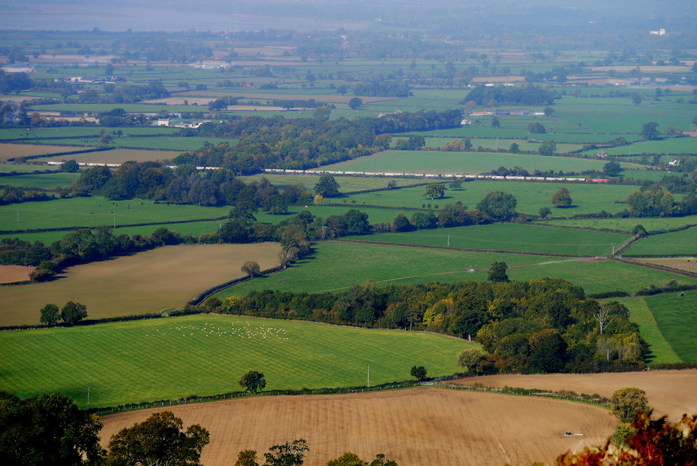 VIEW FROM FROCESTER HILL GLOUCESTER by Dave Taylor