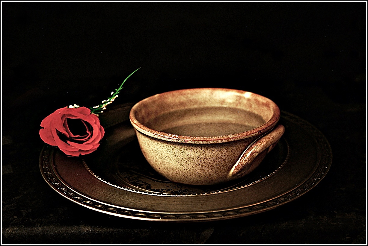 ROSE AND BOWL AFTER ZUBARAN by Rojer Weightman.JPG