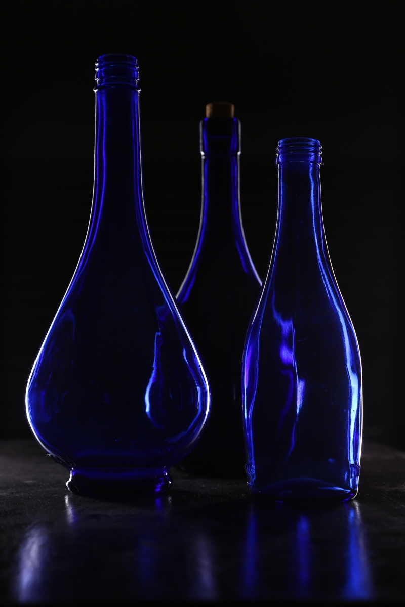 BLUE BOTTLES by Rojer Weightman