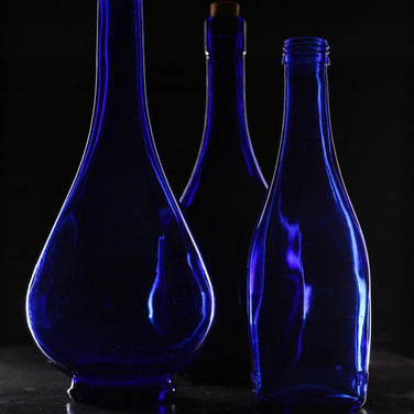BLUE BOTTLES by Rojer Weightman.JPG