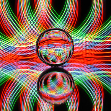 CIRCLES SWIRLS & REFLECTIONS by Keith We