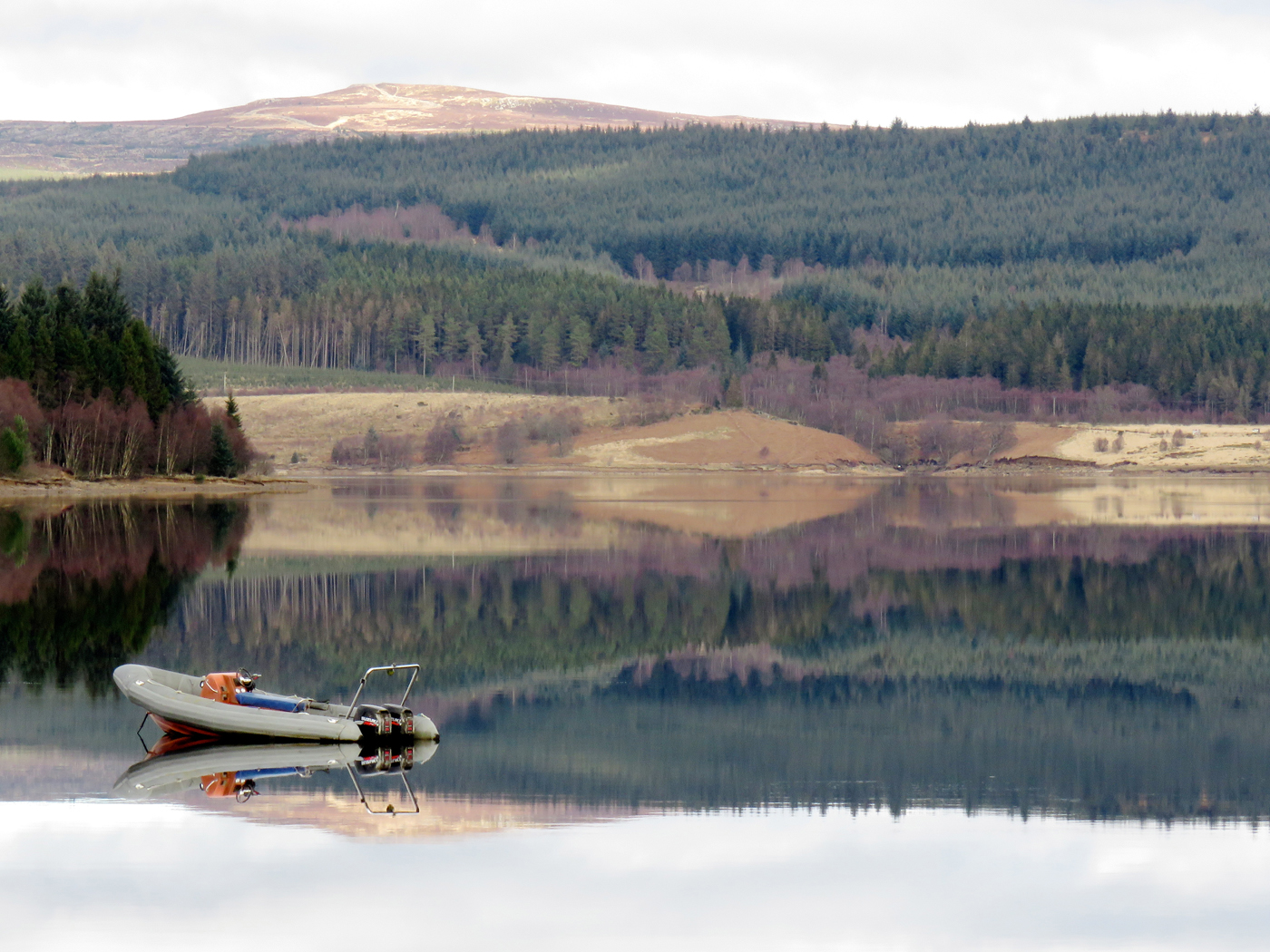 REFLECTING ON THE LOCH by Colin Botwright