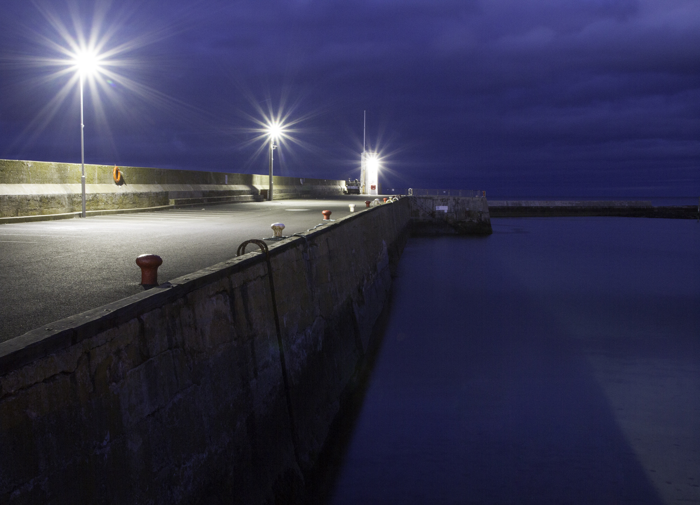 EVENING AT SEAHOUSES HARBOUR by Peter Morrish.jpg