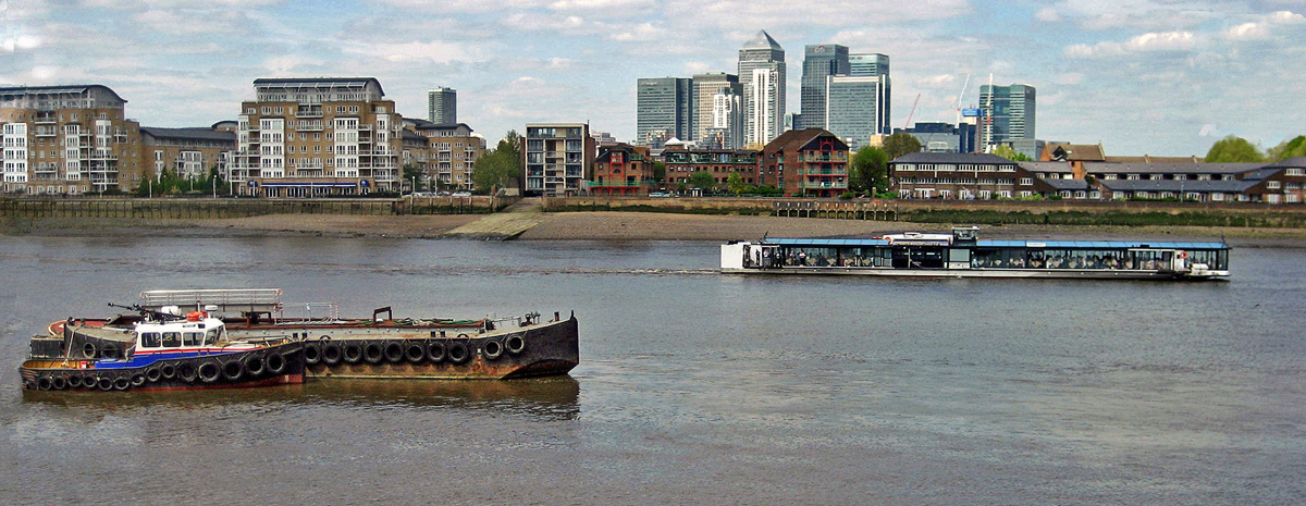 WORKING  BOATS ON THAMES by Dave Taylor.jpg