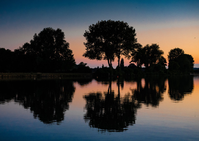 REFLECTION ON THE THAMES by Mark Collins