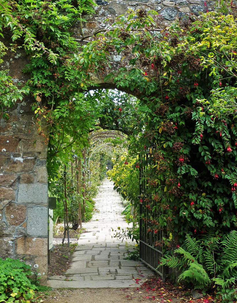 ARCHWAY TO A HIDDEN GARDEN by Keith Webb