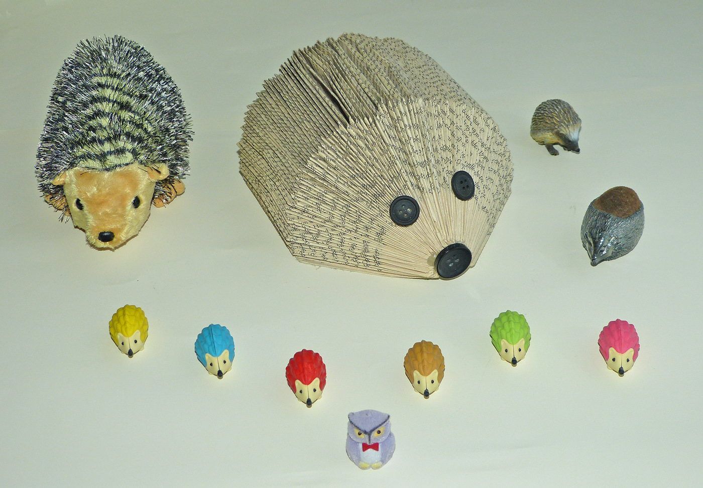 MR. OWL'S ORIGAMI HEDGEHOG GANG by John Cano-Lopez